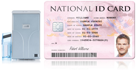laminated national id cards