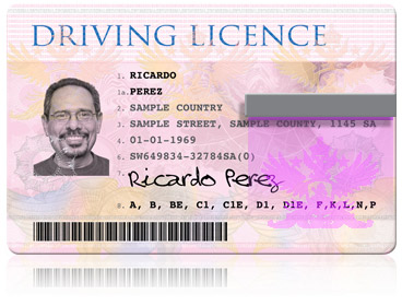 laminated driver licences
